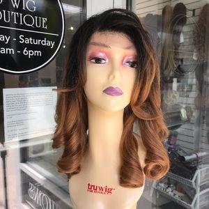 Accessories - Wig 360 Fullcap ombré honey dark roots hair Blende